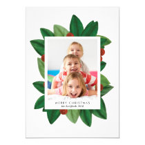 Holiday Photo Card *Christmas Laurel*