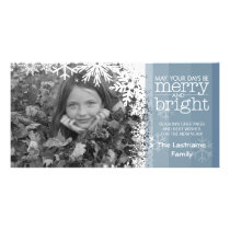 Holiday Photo Card: Let It Snow! Blue Ombre Card