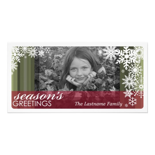 Holiday Photo Card: Let It Snow! Card