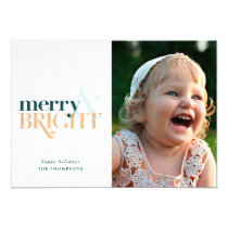 Holiday Photo Card *Merry & Bright*