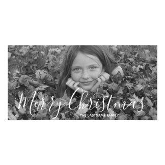 Holiday Photo Card - Merry Christmas Handwritten