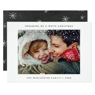 HOLIDAY PHOTO CARD | Minimal Modern Snow Christmas