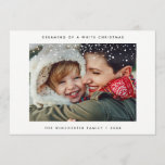 "HOLIDAY PHOTO CARD | Minimal Modern Snow Christmas<br><div class=""desc"">Create a lasting impression this holiday season with a beautiful Minimal Modern Snow Christmas Card. This card features a modern minimalist clean design featuring your perfect holiday photo. Don&#39;t miss the coordinating Minimal Modern Snow  Christmas Collection in the &quot;Dear Beautiful You&quot; shop.</div>"