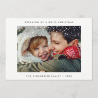 HOLIDAY PHOTO CARD | Minimal Modern Snow Christmas