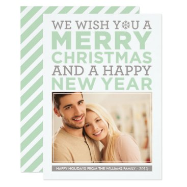 Christmas Themed Holiday Photo Card | Modern Christmas Wishes