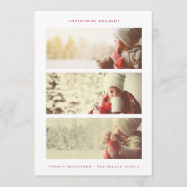 HOLIDAY PHOTO CARD | Modern Minimal Red Christmas