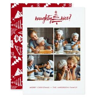 HOLIDAY PHOTO CARD | Modern Naughty Nice Christmas