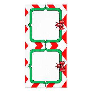 Holiday Photo Card Red and Green Crafty Style