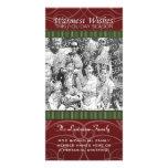 Holiday Photo Card: Red & Green Swirls