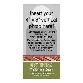 Holiday Photo Card: Retro Stripes Card