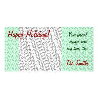 Holiday Photo Card Template, Mistletoe Pattern