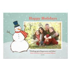 Holiday Photo Card | Winter Snowman Theme