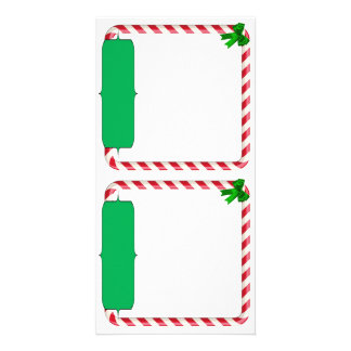 Holiday Photo Card with Candy Cane border