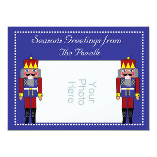 "Holiday Photo Card with Nutcrackers 5.5"" X 7.5"" Invitation Card"