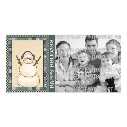 Holiday Photo Cards - Snowman