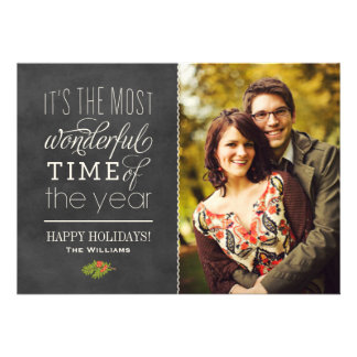 Holiday Photo Cards   The Most Wonderful Time