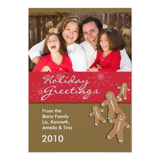 Holiday Photo Christmas Cards - Gingerbread Family