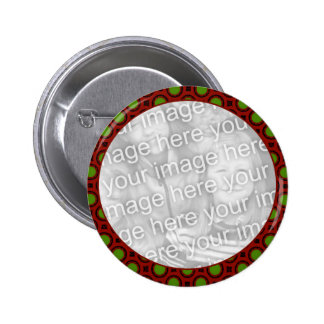 Holiday Photo frame Pinback Button