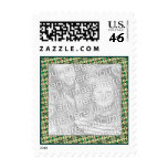 holiday photo frame postage stamp