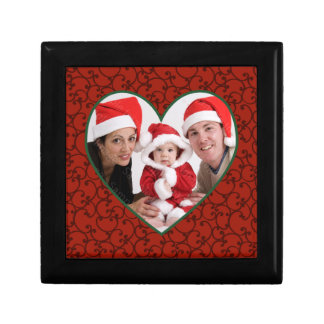 Holiday Photo Heart Red Frame Gift Box