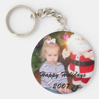 Holiday Photo Keychain