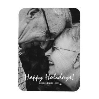 Holiday Photo Magnets - Happy Holidays Custom Text