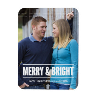 Holiday Photo Magnets Personalized Christmas