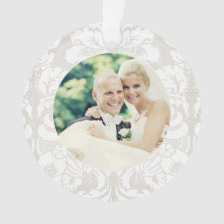 Holiday Photo Ornament   Merry and Married