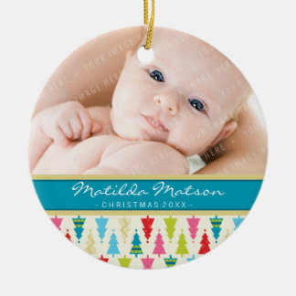 HOLIDAY PHOTO ORNAMENT patterned christmas tree