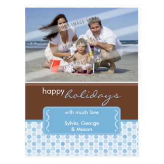 HOLIDAY PHOTO POSTCARD :: spotted bracket P4