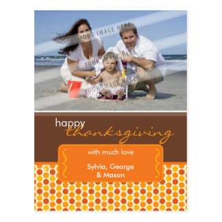 HOLIDAY PHOTO POSTCARD :: spotted bracket P5