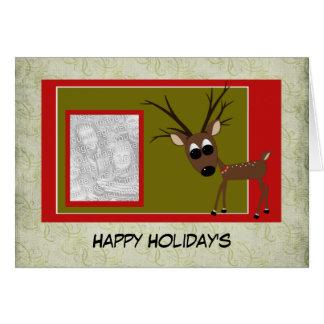 Holiday Photo Reindeer Card
