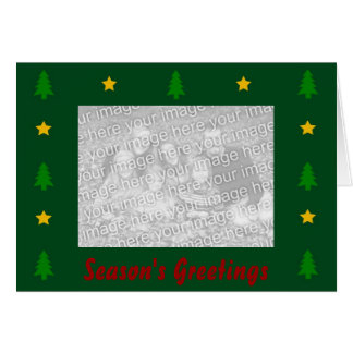 Holiday Photo Trees and Stars Greeting Card