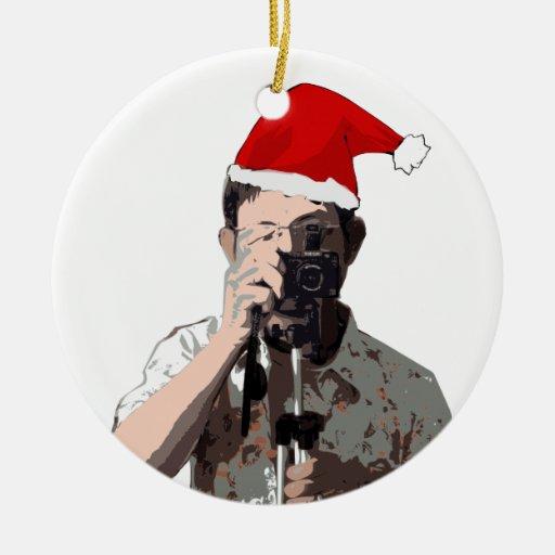 Holiday Photographer Ceramic Ornament Zazzle