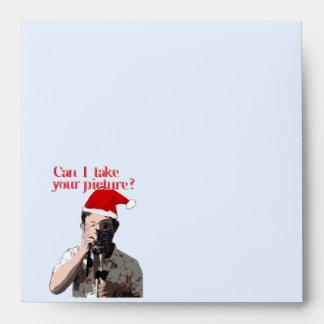 Holiday Photographer - Cheesy Pick-up Line Envelopes