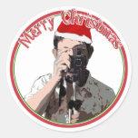 Holiday Photographer Classic Round Sticker