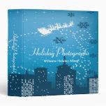 Holiday Photographs City Santa 3 Ring Binder