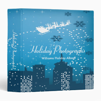 Holiday Photographs City Santa 3 Ring Binder