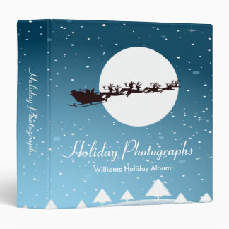 Holiday Photographs Santa 3 Ring Binder