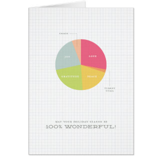 Holiday Pie Chart Corporate Holiday Card