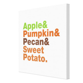 Holiday Pies ~ Festive Xmas Thanksgiving Christmas Canvas Print