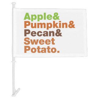 Holiday Pies ~ Festive Xmas Thanksgiving Christmas Car Flag