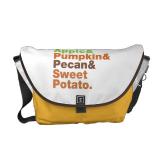 Holiday Pies ~ Festive Xmas Thanksgiving Christmas Courier Bag