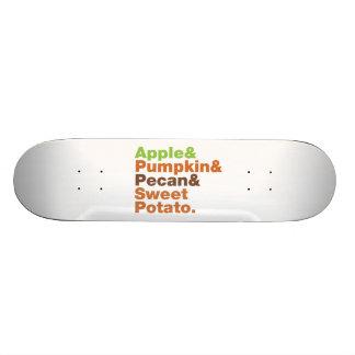 Holiday Pies ~ Festive Xmas Thanksgiving Christmas Skateboard