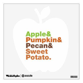 Holiday Pies ~ Festive Xmas Thanksgiving Christmas Wall Sticker