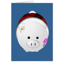 Holiday Pig Card