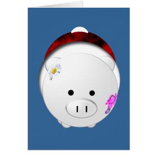 Holiday Pig Card