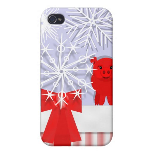 Holiday pig iPhone 4 cases