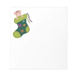 Holiday Pig Notepad