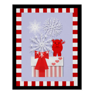 Holiday Pig, Poster